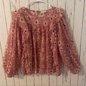 Lucky Brand Floral boho blouse